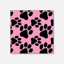 Dog Paws Pink Sticker