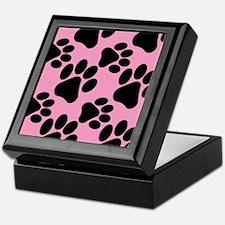 Dog Paws Pink Keepsake Box