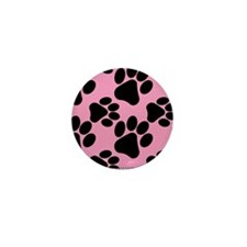 Dog Paws Pink Mini Button