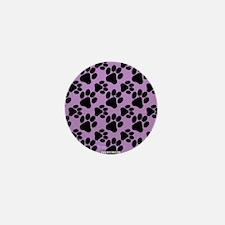 Dog Paws Light Purple Mini Button