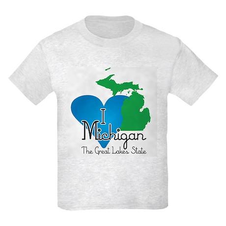 I Heart Michigan Kids Light T-Shirt