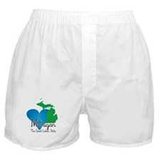 I Heart Michigan Boxer Shorts