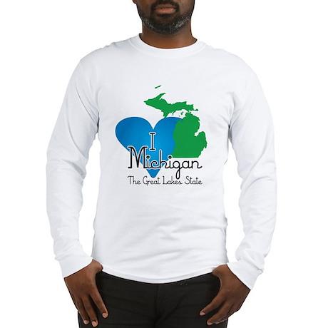 I Heart Michigan Long Sleeve T-Shirt