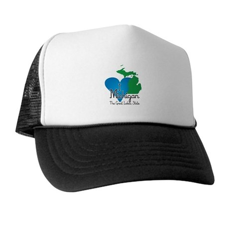I Heart Michigan Trucker Hat