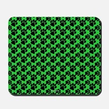 Dog Paws Green Mousepad
