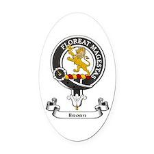 Badge - Broun Oval Car Magnet
