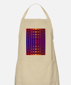 Bright Red Blue Modern Abstract Apron