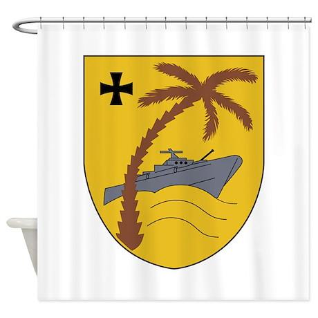 3 Schnellbootgeschwader Wappen Shower Curtain