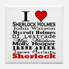 I Heart Sherlock Tile Coaster