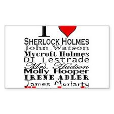 I Heart Sherlock Decal