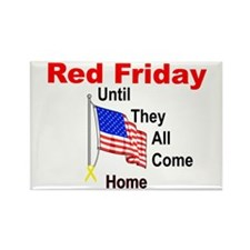 Red Friday (yellow ribbon) Rectangle Magnet