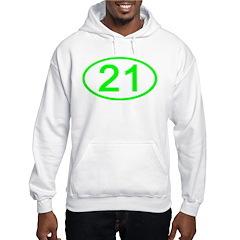 Number 21 Oval Hoodie