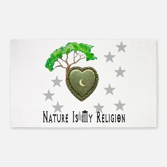 Nature Is My Religion 3'x5' Area Rug