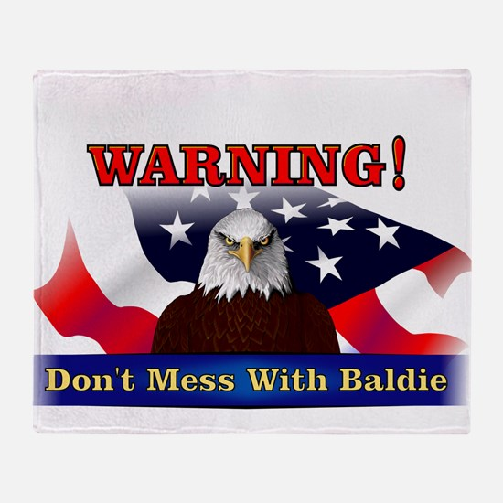 Don't mess with baldie! Throw Blanket