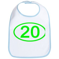 Number 20 Oval Bib