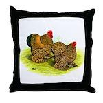 GL Cochin Bantams Throw Pillow