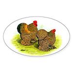 GL Cochin Bantams Oval Sticker