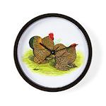 GL Cochin Bantams Wall Clock