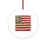 Flower Power US Banner Ornament (Round)