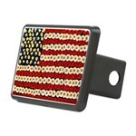Flower Power US Banner Hitch Cover