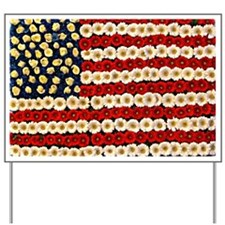 Flower Power US Banner Yard Sign