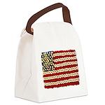 Flower Power US Banner Canvas Lunch Bag