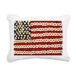 Flower Power US Banner Rectangular Canvas Pillow