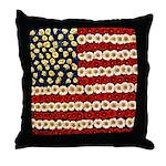 Flower Power US Banner Throw Pillow