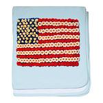 Flower Power US Banner baby blanket