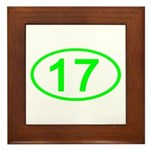 Number 17 Oval Framed Tile