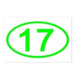 Number 17 Oval Postcards (Package of 8)