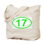 Number 17 Oval Tote Bag