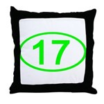 Number 17 Oval Throw Pillow