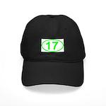 Number 17 Oval Black Cap