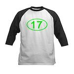 Number 17 Oval Kids Baseball Jersey