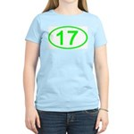 Number 17 Oval Women's Pink T-Shirt
