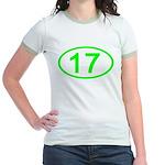 Number 17 Oval Jr. Ringer T-Shirt