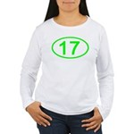Number 17 Oval Women's Long Sleeve T-Shirt