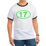 Number 17 Oval Ringer T