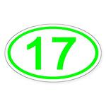 Number 17 Oval Oval Sticker
