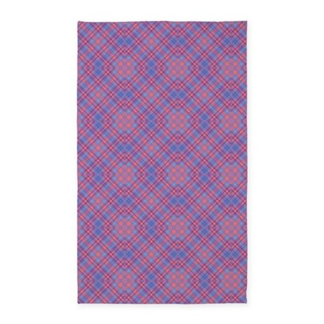 colorful blue and pink lattice 3 39 x5 39 area rug by graphicallusions. Black Bedroom Furniture Sets. Home Design Ideas