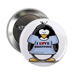 Shopping Penguin Button