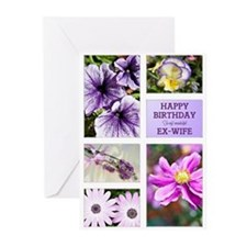 Ex-wife birthday card Greeting Cards (Pk of 20)
