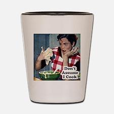 Retro Cooking Humor Shot Glass