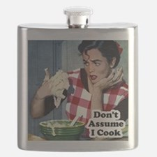 Retro Cooking Humor Flask