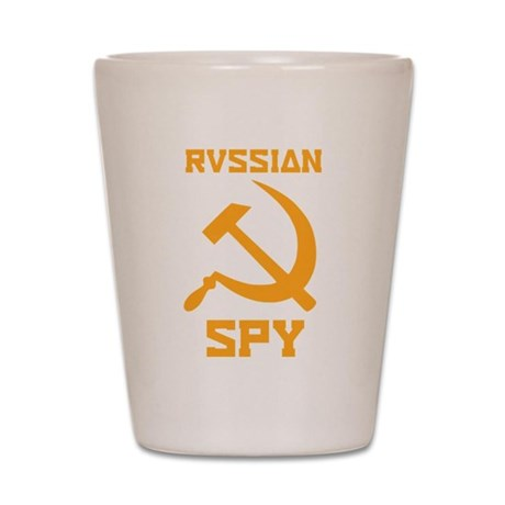 I am a Russian spy Shot Glass