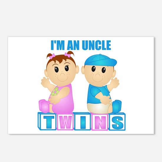 I'm An Uncle (PBG:blk) Postcards (Package of 8)