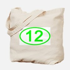Number 12 Oval Tote Bag
