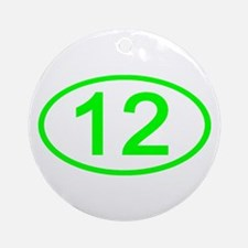 Number 12 Oval Ornament (Round)