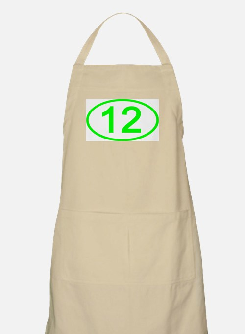 Number 12 Oval BBQ Apron